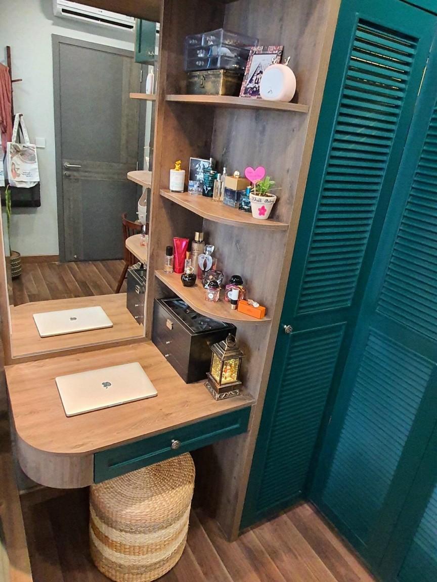tủ áo kết hợp bàn trang điển